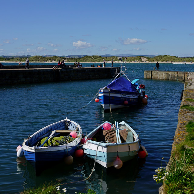 """""""The Harbour at Beadnell, Northumberland"""" stock image"""