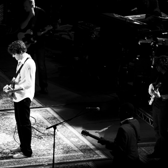 """John Mayer - Royal Albert Hall - Sept 2007 (BW1)"" stock image"