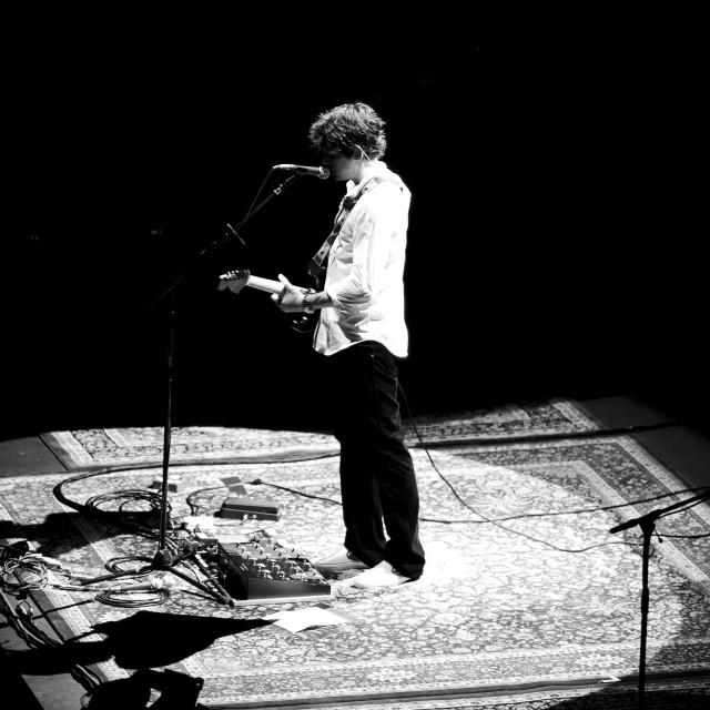"""John Mayer - Royal Albert Hall - Sept 2007 (BW4)"" stock image"