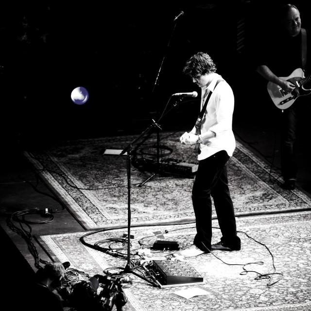 """John Mayer - Royal Albert Hall - Sept 2007 (BW3)"" stock image"