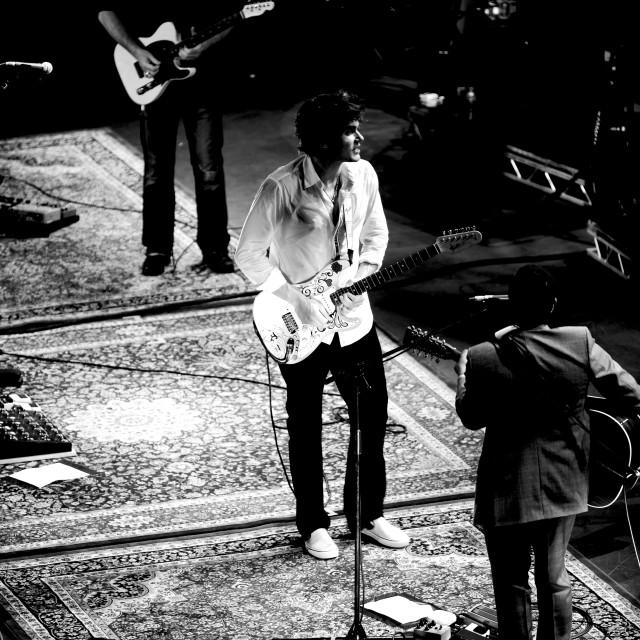 """John Mayer - Royal Albert Hall - Sept 2007 (BW7)"" stock image"
