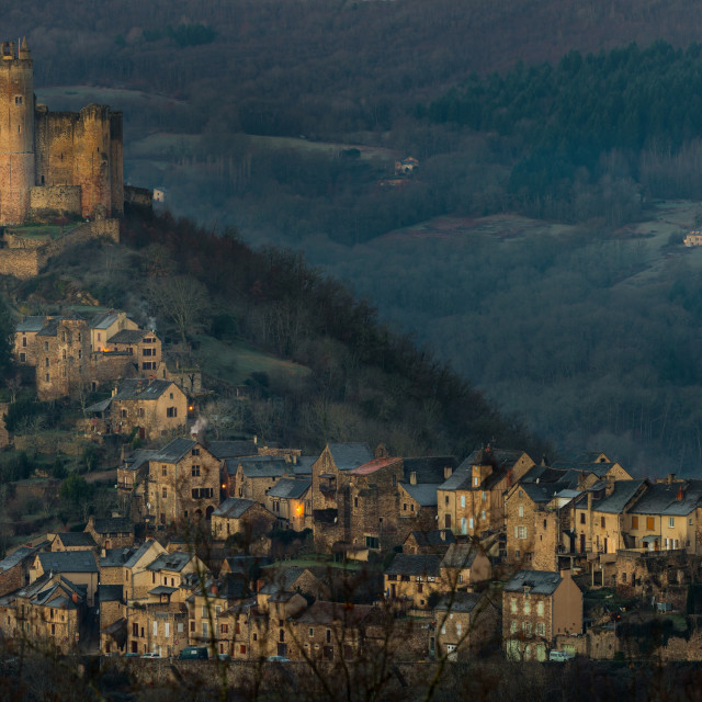 """Najac Castle Panorama"" stock image"