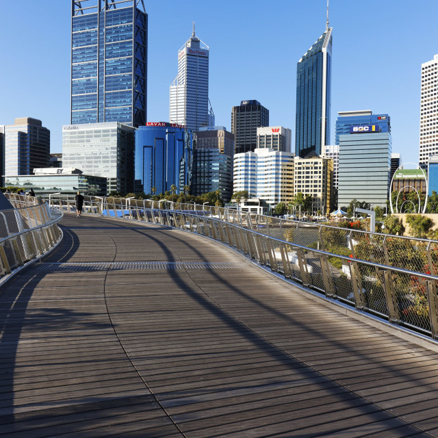"""View to City Skyline"" stock image"