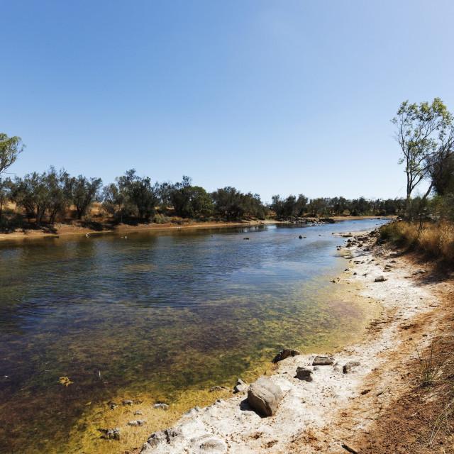 """Murchison River"" stock image"