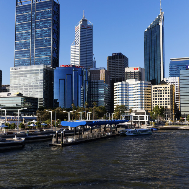 """Perth City Skyline"" stock image"