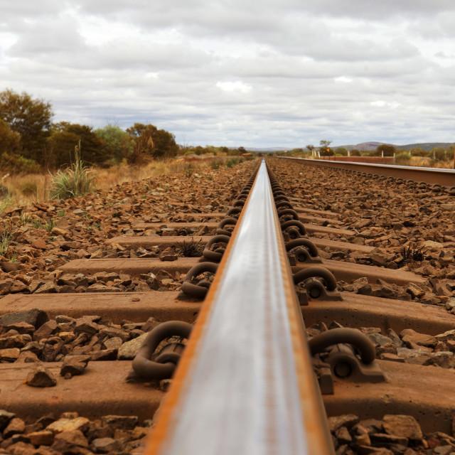 """Tain rail line"" stock image"