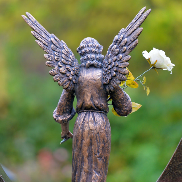 """Angel sculpture"" stock image"