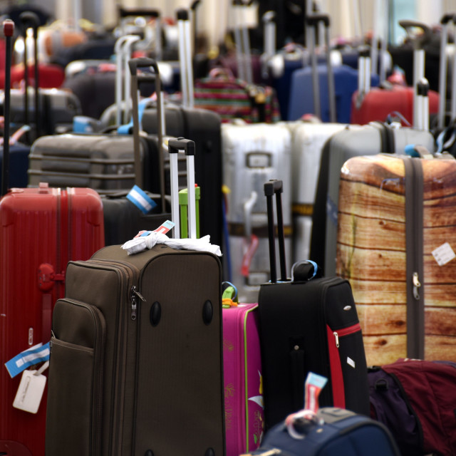 """""""The collected baggage of a cruise"""" stock image"""
