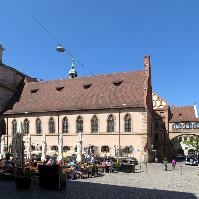 """""""Old town hall place in Nuernberg"""" stock image"""