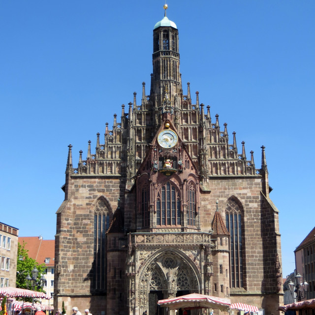 """""""Church of our Lady in Nürnberg"""" stock image"""