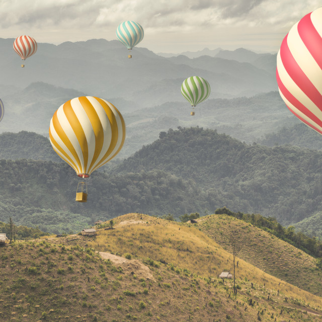 """""""Rolling Hills of Laos"""" stock image"""