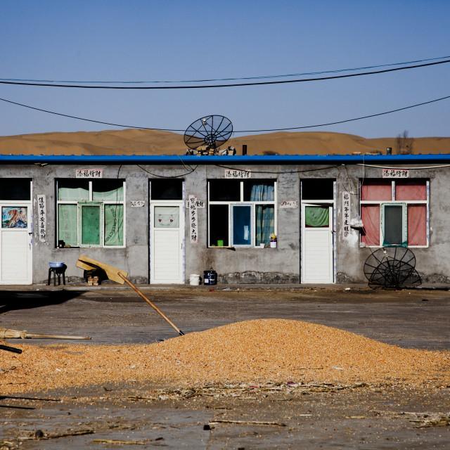 """""""Camel Herder Housing"""" stock image"""