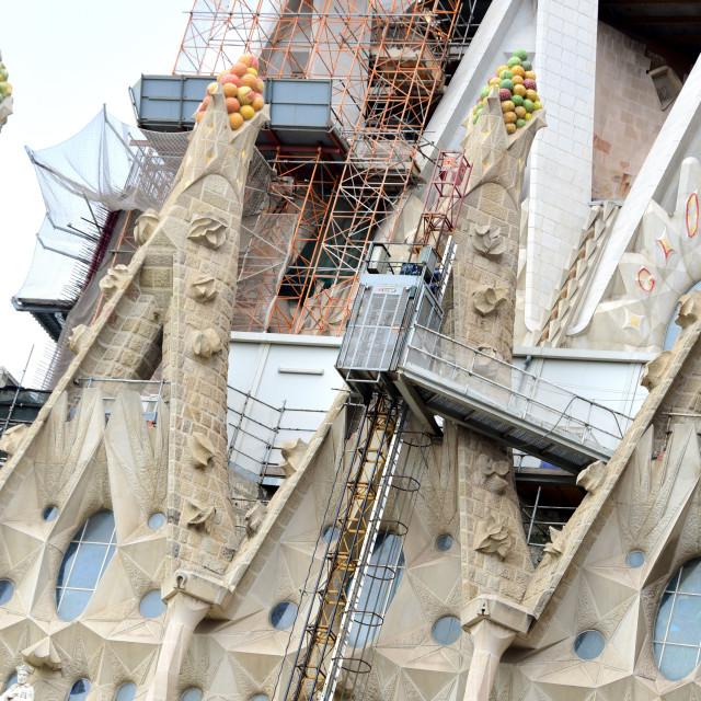 """""""Sagrada Familia in Barcelona"""" stock image"""