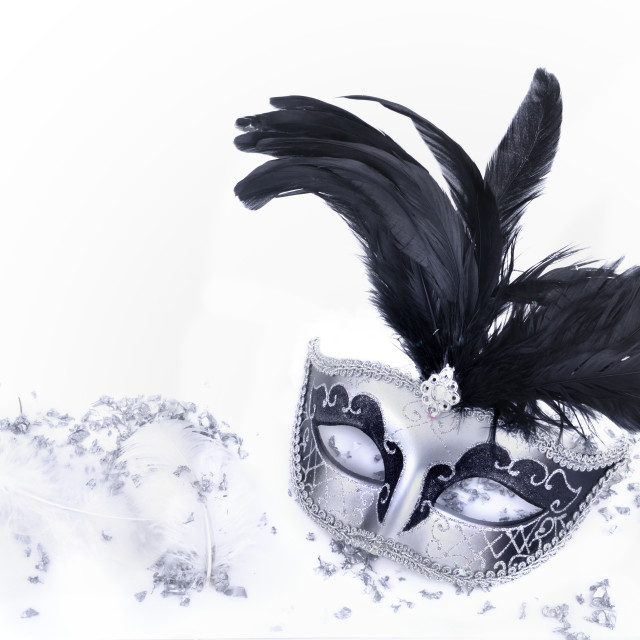 """carnival mask in confetti"" stock image"