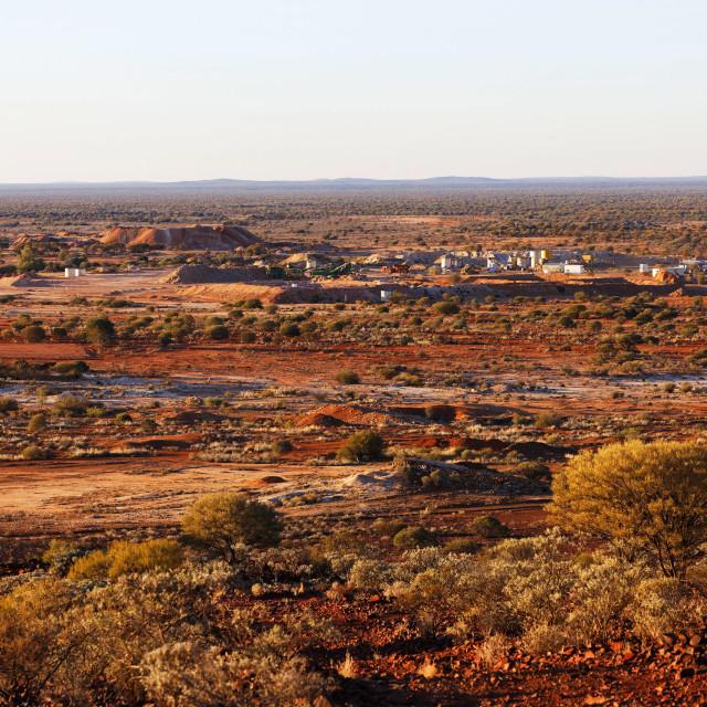 """Goldmine landscape"" stock image"