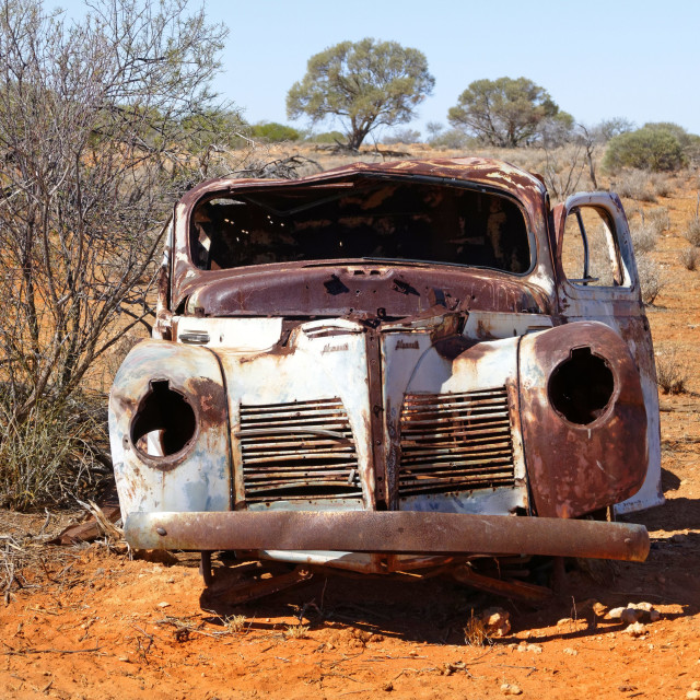 """""""Abandoned Plymouth"""" stock image"""
