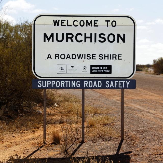 """Australian road sign"" stock image"