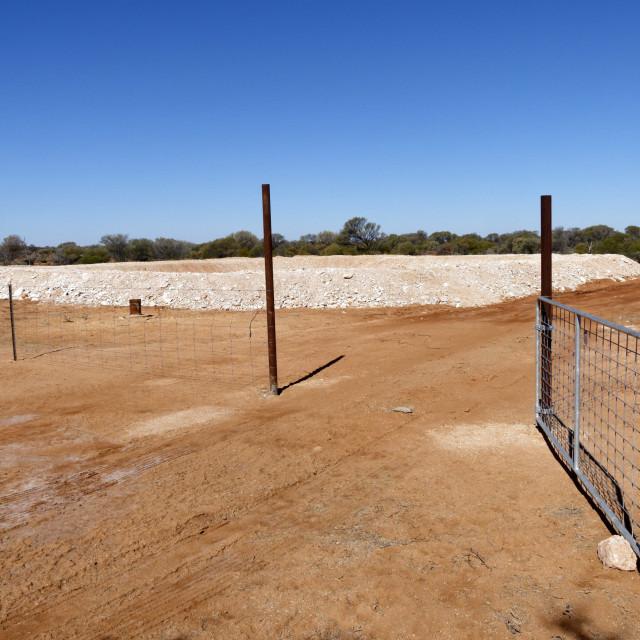 """Small abandoned open cut goldmine"" stock image"