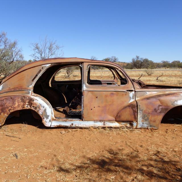 """Abandoned old vintage car"" stock image"
