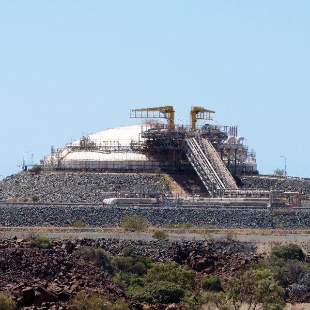 """""""On shore gas storage complex"""" stock image"""
