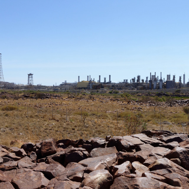 """""""On shore gas plant complex"""" stock image"""