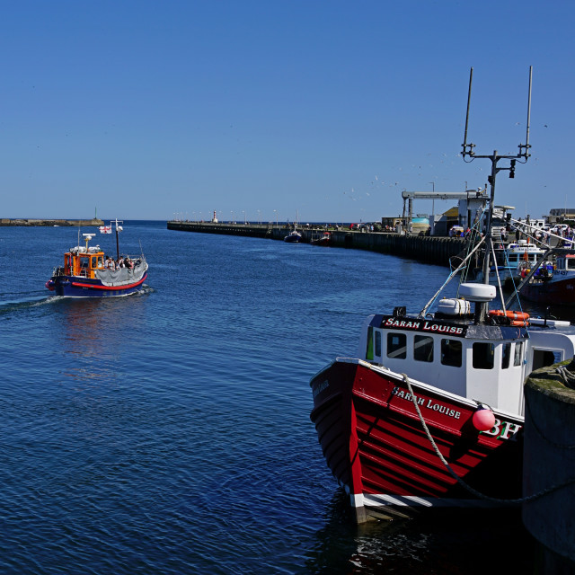 """High Tide, Amble, Northumberland"" stock image"