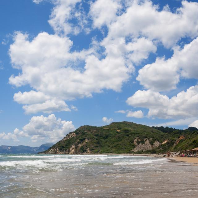 """Gerakas beach at Zakynthos"" stock image"