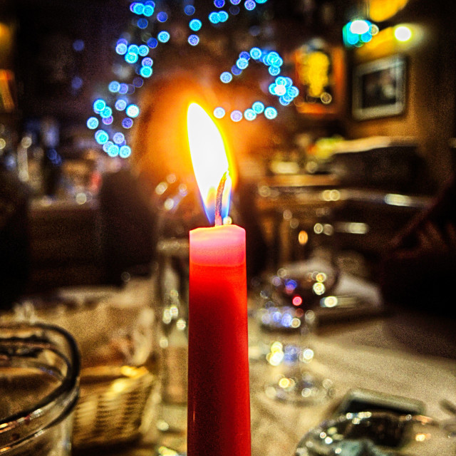 """""""Magic of Christmas lights"""" stock image"""