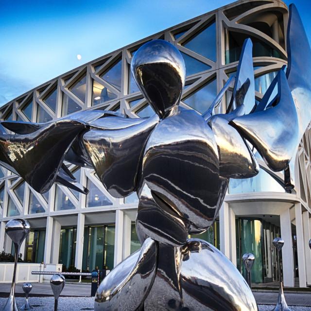 """Shiny metal sculpture"" stock image"
