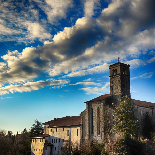 """Church and clouds"" stock image"
