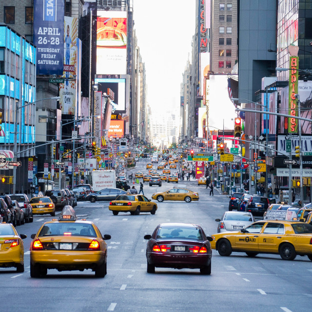 """New York traffic"" stock image"