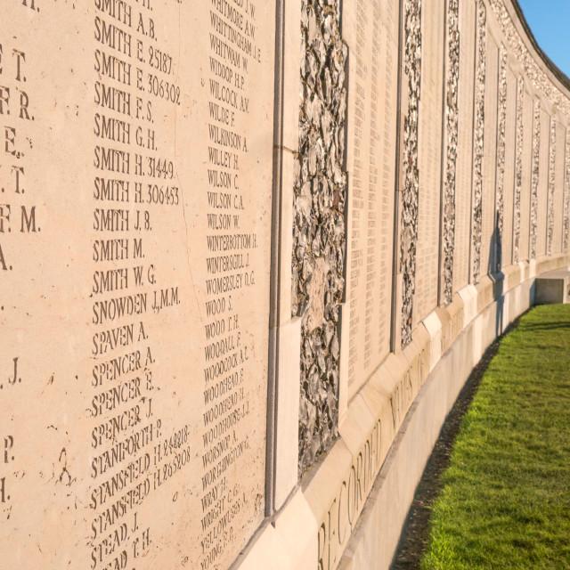 """""""Tyne Cot Cemetery, Ypres, Belgium"""" stock image"""