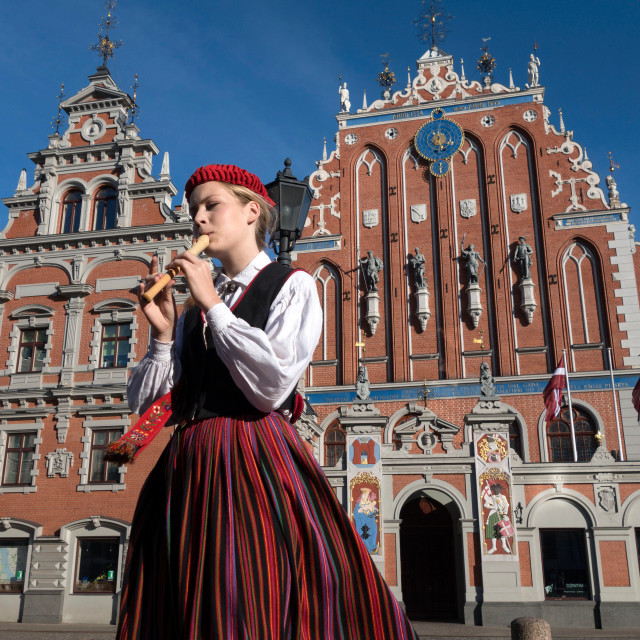 """The House of Blackheads, Riga, Latvia"" stock image"