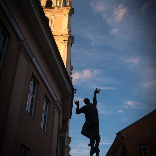 """Public monument in Vilnius, Lithuania"" stock image"