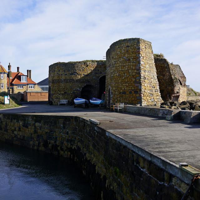 """Limekilns, Beadnell, Northumberland"" stock image"