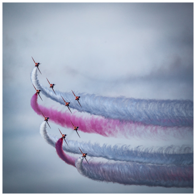 """Red Arrows, Herne Bay 2016"" stock image"