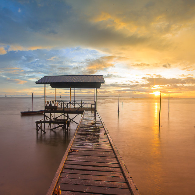 """""""Morning by the jetty"""" stock image"""