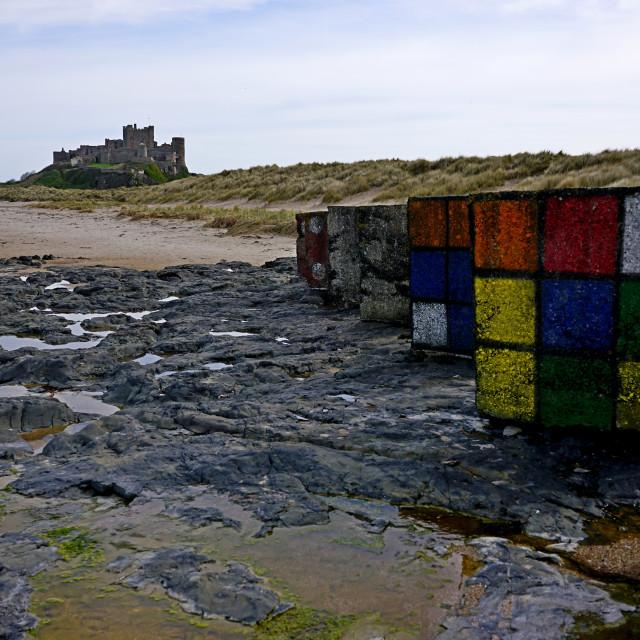 """""""Bamburgh Castle, Northumberland"""" stock image"""