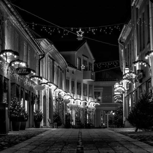 """Christmas in Vadstena"" stock image"