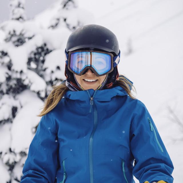 """Skier girl - no logos"" stock image"