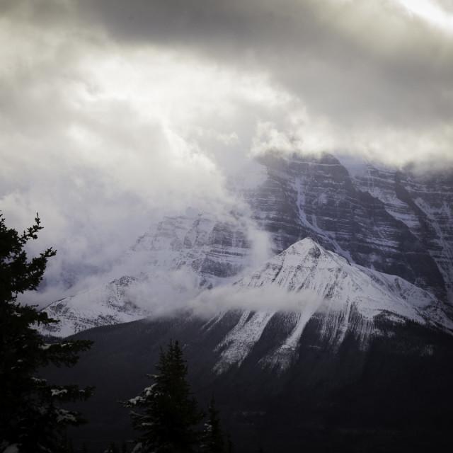 """Mount Temple - Lake Louise, Canada"" stock image"