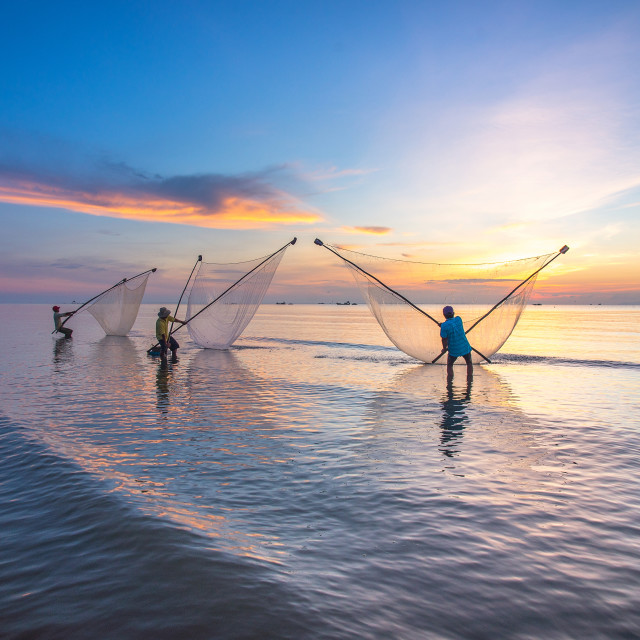 """Livelihood Sunrise at Go Cong Beach"" stock image"