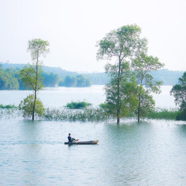 """""""Livelihood at green lake"""" stock image"""