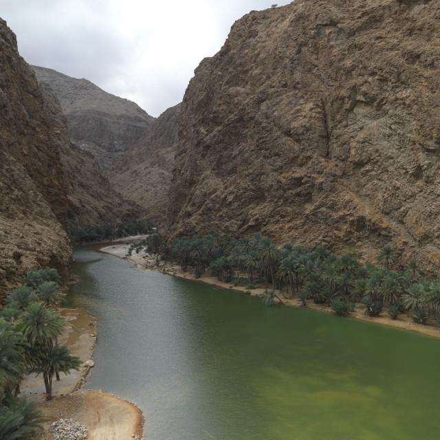 """Overlook The View Of Wadi Shab, Oman"" stock image"