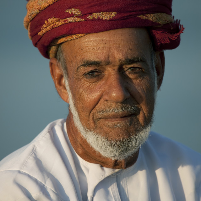 """Portrait Of Man In Masirah Island, Oman"" stock image"