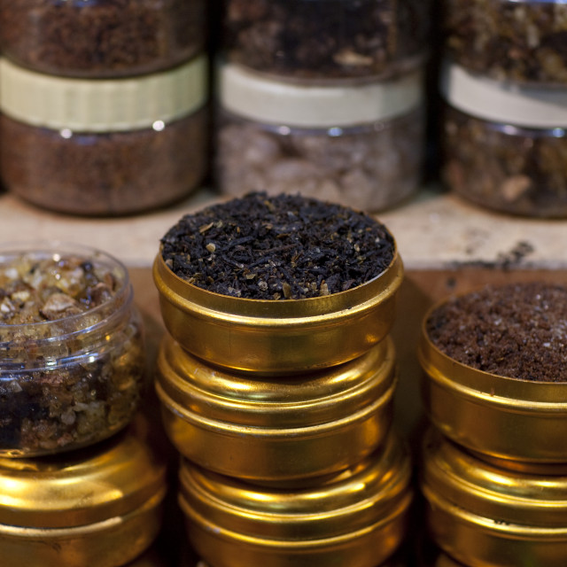 """Spices Been Sold In Muscat Muttrah Souk, Oman"" stock image"