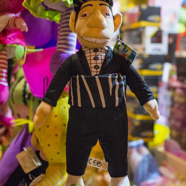 """Kurdish Toy Character, Suleymanyah, Kurdistan, Iraq"" stock image"