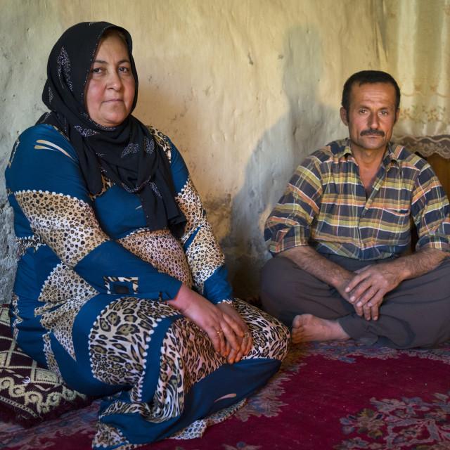 """""""Kurdish Couple, Azaban, Kurdistan, Iraq"""" stock image"""