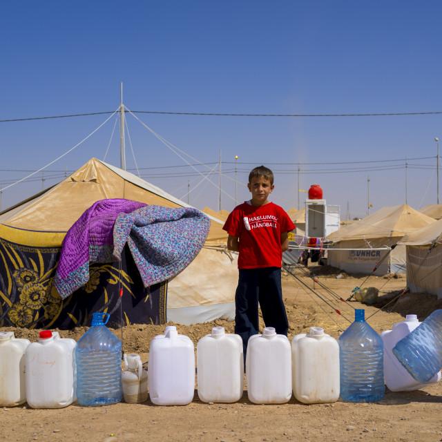 """Syrian Refugee Camp, Erbil, Kurdistan, Iraq"" stock image"