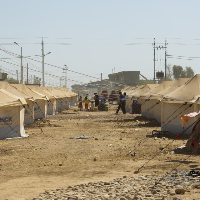 """Syrian Refugee Camp, Erbil, Kurdistan, Iraq"" stock image"